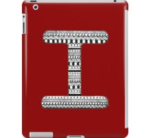 'I' Patterned Monogram iPad Case/Skin