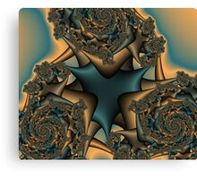 Faded Rose Fractal Canvas Print