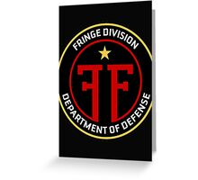 FRINGE Division Department of Defense Greeting Card