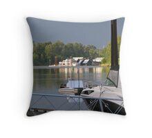 houseboats Throw Pillow