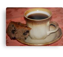 Black Coffee & Sour Cream Blueberry Banana Bread Metal Print
