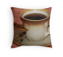 Black Coffee & Sour Cream Blueberry Banana Bread Throw Pillow