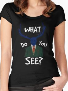 what do you see?  Women's Fitted Scoop T-Shirt