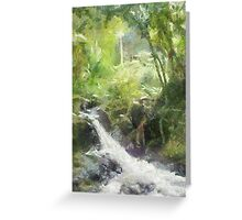 Onemea Stream, Hilo Hawaii Greeting Card
