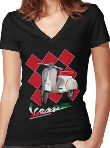 Vespa Women's Fitted V-Neck T-Shirt