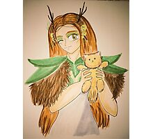 Marisha as The Druid and the Cute little kitten Photographic Print