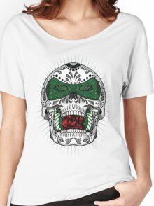 Sugar Skull Series - Green Lantern Women's Relaxed Fit T-Shirt