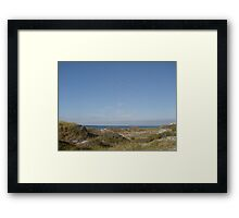 Dunes, Pelicans and the Gulf of Mexico Framed Print