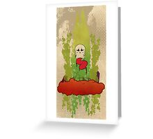 The Floating Grave Yard Greeting Card