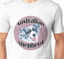 Australian Shepherd ~ Oil Painting ~ T-shirt and Stickers Unisex T-Shirt