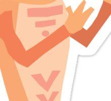 Orange-Bot Sticker
