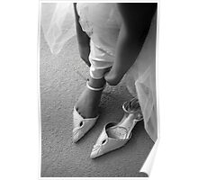 Wedding shoes. Poster