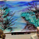 Landscape in ink.. work in progress by maxy