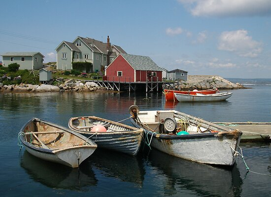 Peggy&#x27;s Cove Nova Scotia by Larry McLean