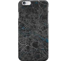 Berlin city map black colour iPhone Case/Skin