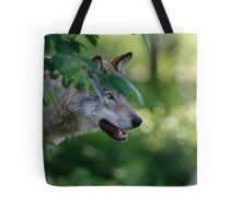 Timber Wolf Tote Bag