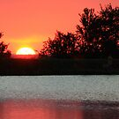 Sunset over Lake Walcot by Susan Blevins