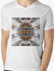 Rich Colorful Glass Droplets Mens V-Neck T-Shirt