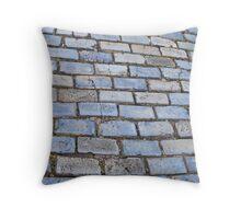 Blue Bricks of San Juan Throw Pillow