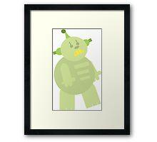 Green Bot Framed Print