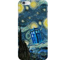 British Blue phone box painting iPhone Case/Skin