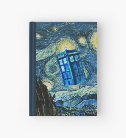 British Blue phone box painting Hardcover Journal