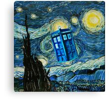 British Blue phone box painting Canvas Print