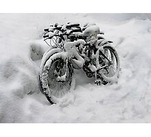 Three Bicycles Photographic Print