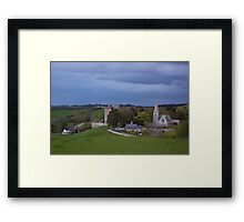 Borthwick Castle and Church Framed Print