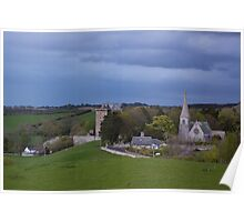 Borthwick Castle and Church Poster