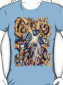 Big Bang Attack Exploded Flamed Phone booth painting T-Shirt