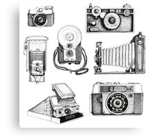 Vintage Camera Collection Canvas Print