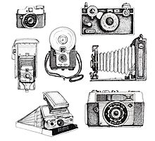 Vintage Camera Collection Photographic Print