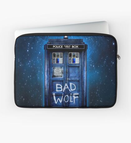 Space And Time traveller Wolf Laptop Sleeve