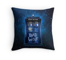 Space And Time traveller Wolf Throw Pillow