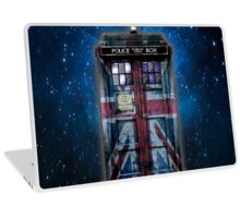 British Union Jack Space And Time traveller Laptop Skin