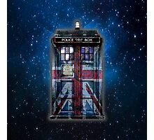 British Union Jack Space And Time traveller Photographic Print