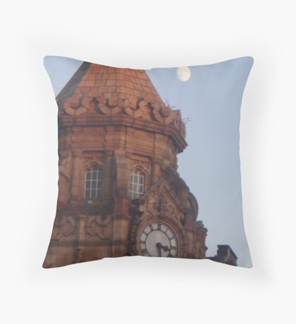 The Moon Is Showing At Half Past Three Throw Pillow
