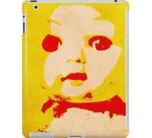 Scary Doll Screenprint #1 iPad Case/Skin