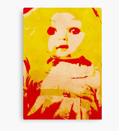 Scary Doll Screenprint #1 Canvas Print
