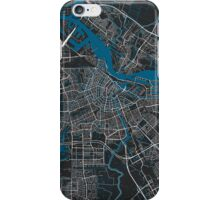 Amsterdam city map black colour iPhone Case/Skin