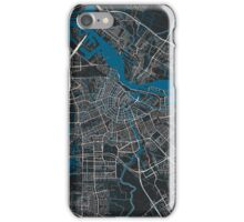 Amsterdam city map black colour iPhone Case/Skin
