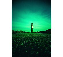 GREEN LIGHTHOUSE Photographic Print