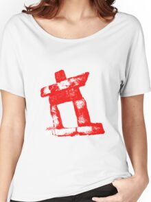 Canada rock man -RED- Women's Relaxed Fit T-Shirt