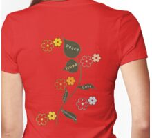 Peace, Love and Understanding T Shirt Womens Fitted T-Shirt