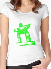 Canada rock man  -GREEN- Women's Fitted Scoop T-Shirt