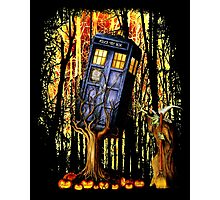 Haunted Blue Phone Box captured By witch Photographic Print
