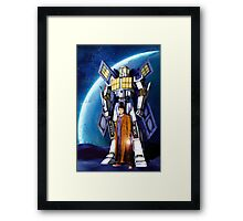 Giant Robot Phone Box with The Doctor Framed Print