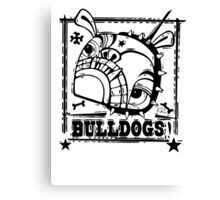 Grim the Bulldog  Canvas Print