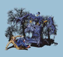 Weird Cursed British blue Phone box Monster Kids Clothes